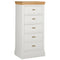 Eton White 5 Drawer Wellington