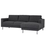 Manhattan Chaiselongue Sofa Charcoal (Right Hand)