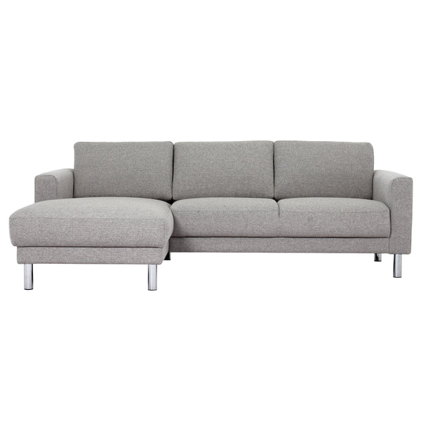 Cleveland Chaiselongue Sofa Light Grey (Left Hand)