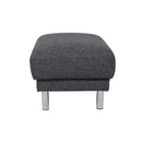 Manhattan Footstool Charcoal