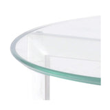 Spire Glass & Steel End Table