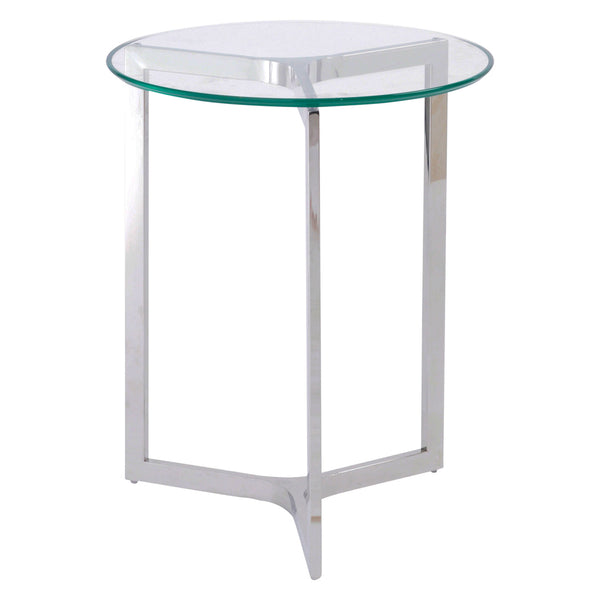Spire Glass & Steel Round Table
