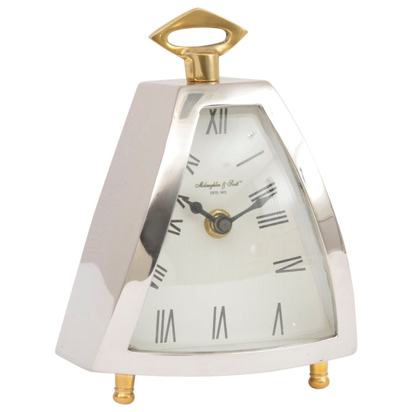 Nickel Curved Mantle Clock
