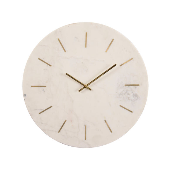 Marble and Brass Wall Clock