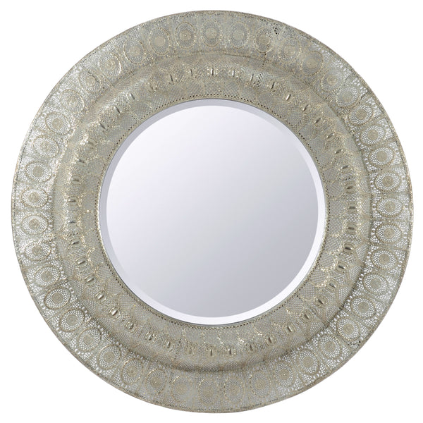 Antique Silver Filigree Mirror