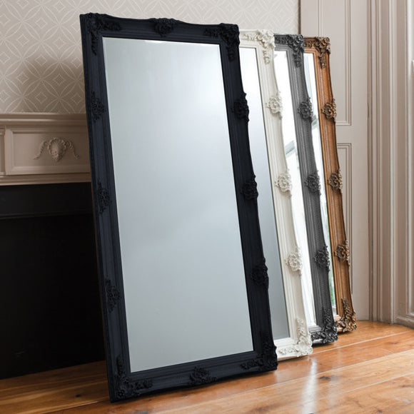 Black Beaulieu Leaner Mirror