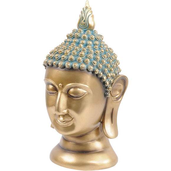 Golden Blue Buddha Head