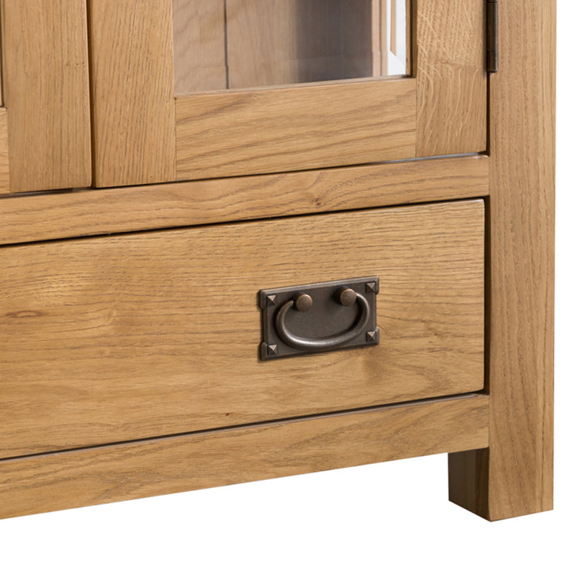 Country Oak Display Cabinet