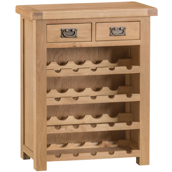 Country Oak Small Wine Rack