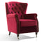 Balmoral Wingback Chair Berry