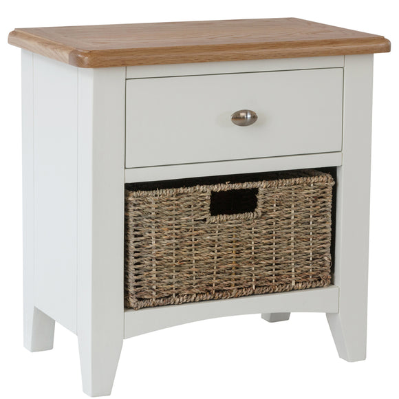 Chichester Painted 1 Drawer 1 Basket Unit