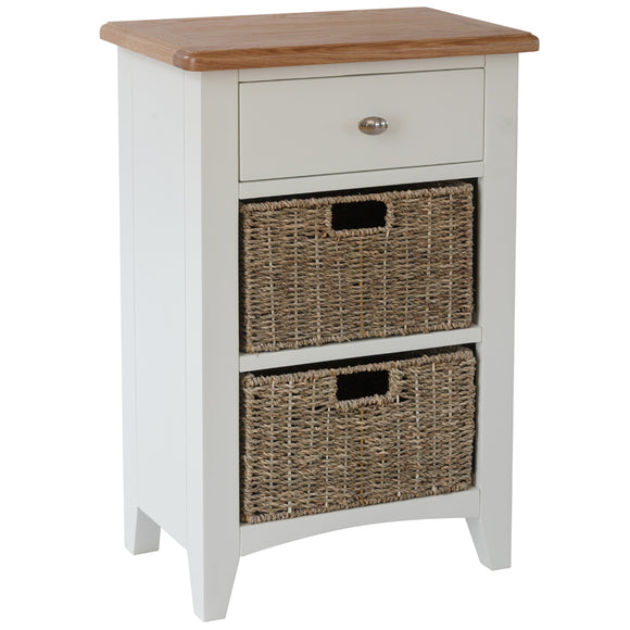 Chichester Painted 1 Drawer 2 Basket Unit