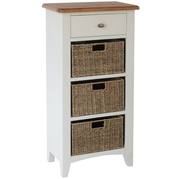 Chichester Painted 1 Drawer 3 Basket Unit