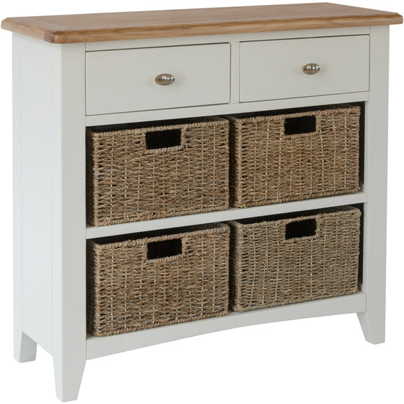 Chichester Painted 2 Drawer 4 Basket Unit