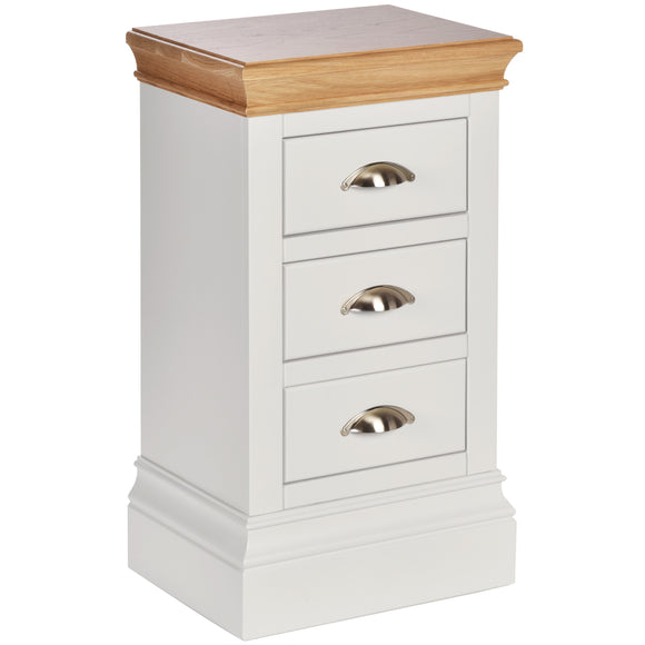 Eton White Compact 3 Drawer Bedside