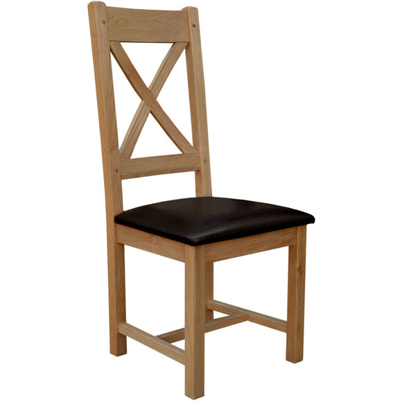 French Oak Cross Back Chair