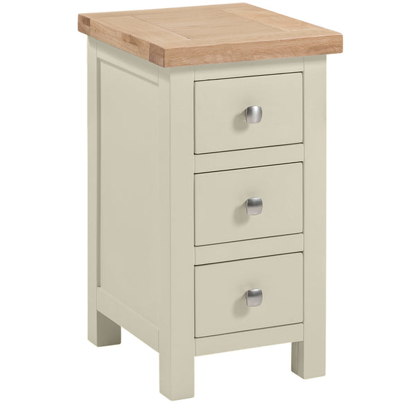 Oxford Painted Compact 3 Drawer Bedside