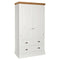 Eton White Double Wardrobe with Drawers