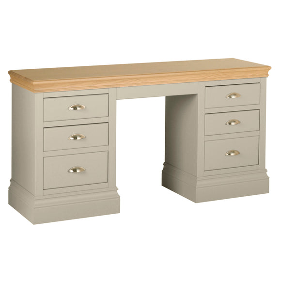 Eton Platinum Double Pedestal Dressing Table