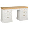 Eton White Double Pedestal Dressing Table
