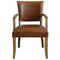 Tan Brown Leather Arm Chair