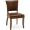 Tan Brown Leather Dining Chair