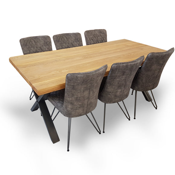 Foundry Oak Large Table & 6 Chair Set
