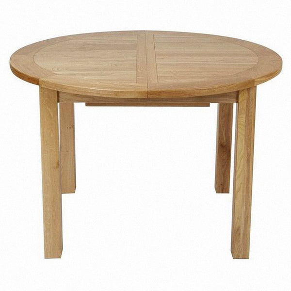 French Oak Round Extending Table
