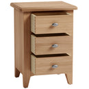 Chichester Oak 3 Drawer Bedside