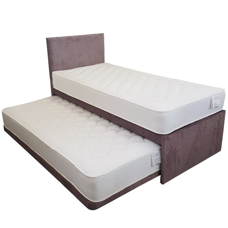Guest Bed Set with Floor Standing Headboard
