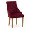 Mayfair Velvet Chair - Crimson