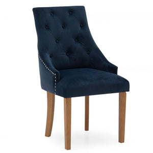 Mayfair Velvet Chair - Midnight