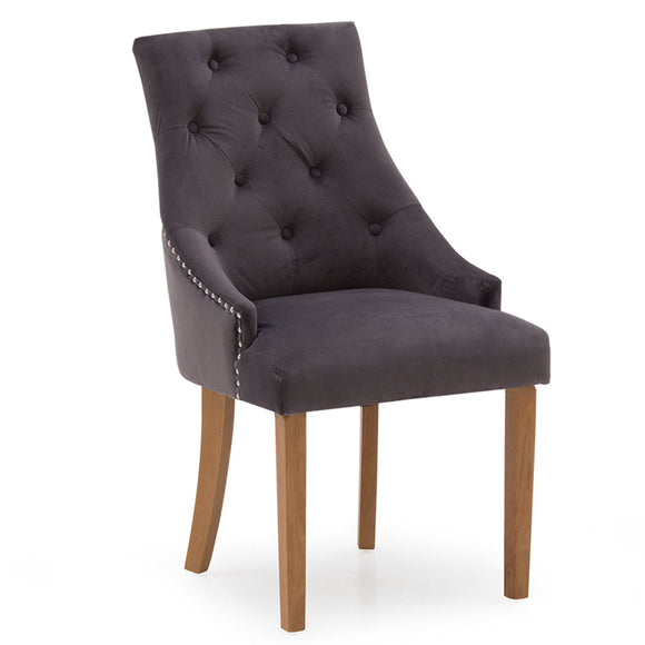 Mayfair Velvet Chair - Misty