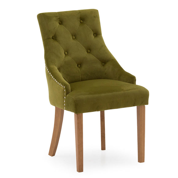 Mayfair Velvet Chair - Moss