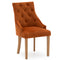 Mayfair Velvet Chair - Pumpkin