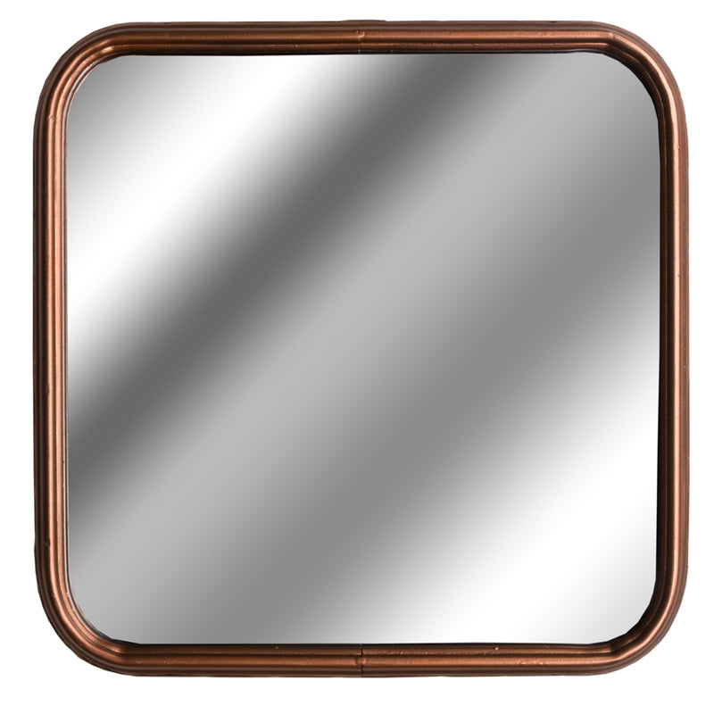 Square Copper Finish Mirror