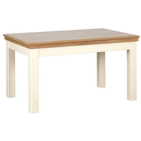 "Eton Ivory 4'6"" Fixed Top Table"