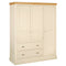 Eton Ivory Triple Wardrobe with Drawers