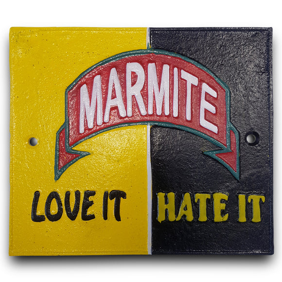 Marmite Metal Wall Plaque