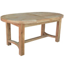 French Oak Oval Extending Dining Table with 2 Leaves