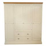 Eton Ivory Quad Wardrobe with Drawers
