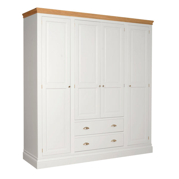 Eton White Quad Wardrobe with Drawers