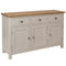 Canterbury Grey 3 Door Sideboard