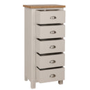 Canterbury Grey 5 Drawer Narrow Chest