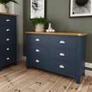 Canterbury Blue 6 Drawer Chest