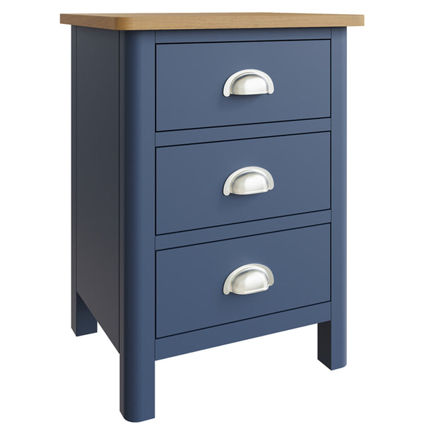 Canterbury Blue 3 Drawer Bedside
