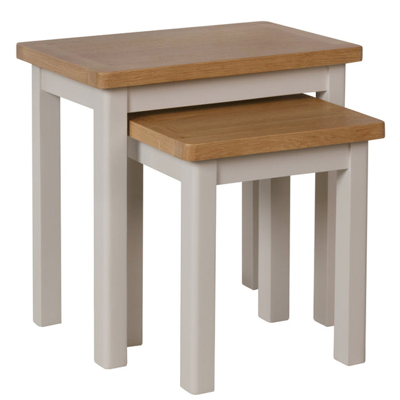 Canterbury Grey Nest of 2 Tables