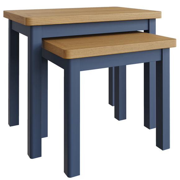 Canterbury Blue Nest of 2 Tables
