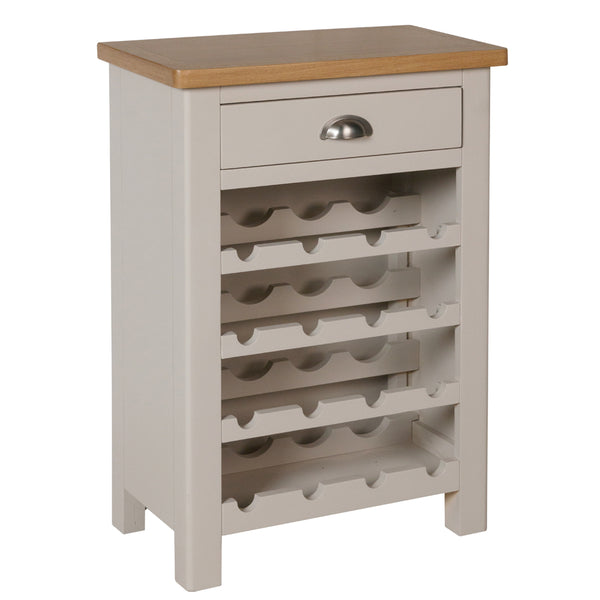 Canterbury Grey Wine Cabinet