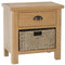 Canterbury Oak 1 Drawer 1 Basket Unit